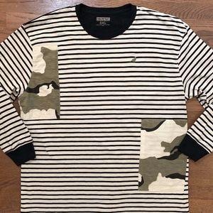 Staple Pigeon NYC Striped Camo L/S Shirt 3XL